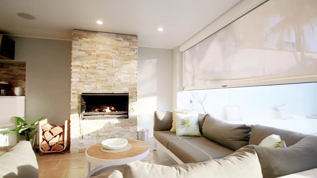 Ziptrak living room blinds - 1800 blinds